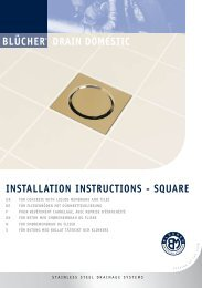 INSTALLATION INSTRUCTIONS - SQUARE