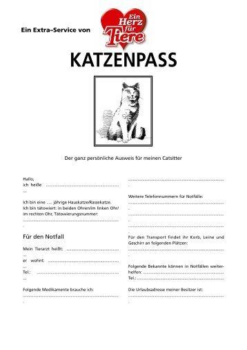 KATZENPASS - Geliebte Katze