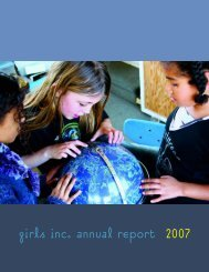 girls inc. annual report √2007