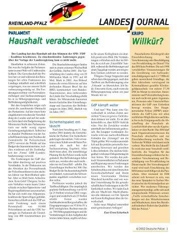 OURNAL LANDESJ Haushalt verabschiedet Willkür? - gdp ...