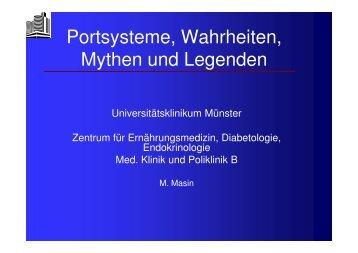 Portsysteme, Wahrheiten, Mythen und Legende, Prof. Dr. M. Masin