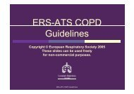 ERS-ATS COPD Guidelines - GOLD