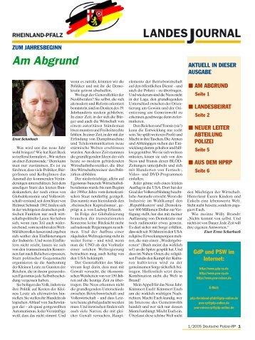 LANDESJOURNAL Am Abgrund - GdP