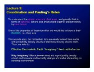 Lecture 9: Coordination and Pauling's Rules