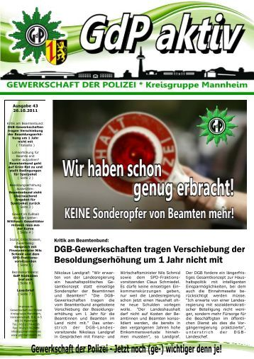 Publisher GdP aktiv 2011-10-26.pub - GdP Mannheim
