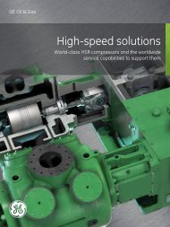 High Speed Solutions / PDF 557kb - GE Energy