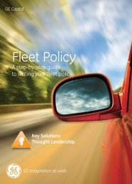 Fleet Policy - GE Capital Deutschland