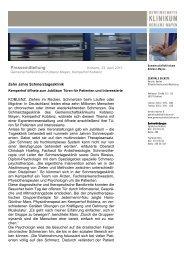 Zehn Jahre Schmerztagesklinik - Gemeinschaftsklinikum Koblenz ...