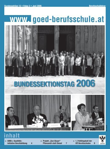 bundessektionstag 2006 - Bundessektion 12 Berufsschullehrer
