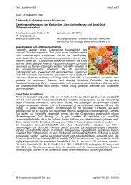 Farbstoffe in Getränken und Süsswaren - Kantonales Laboratorium