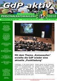 GdP aktiv 2010-03-22 - GdP Mannheim