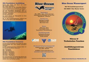 Flyer 2012 Tls - Blue Ocean Wassersport