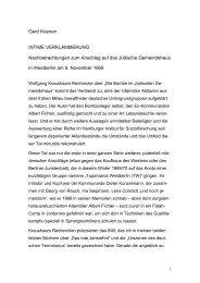 Gerd Koenen INTIME VERKLAMMERUNG Nachbetrachtungen zum ...