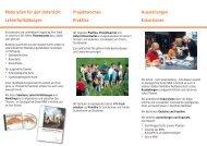 Materialien für den Unterricht Lehrerfortbildungen Projektwochen ...