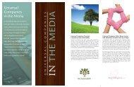 Universal Media Brochure/a - Global Spa & Wellness Summit
