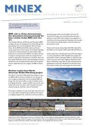 Greenland MINEX News No. 42 - GEUS