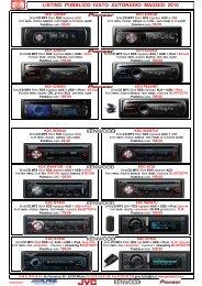 Listino GMA Autoradio Pubblico Mag 2010 - GMA Italia Srl