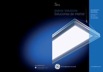 Indoor Solutions Soluciones de interior - GE Lighting