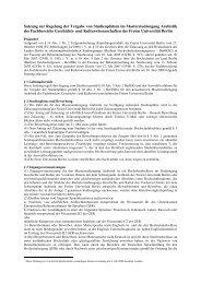 Satzung zur Regelung der Vergabe von Studienplätzen im ...