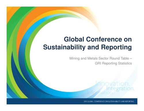 Graphic overview of reporting trends in the sector in 2012 - Global ...