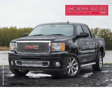 GMC SIERRA 1500 2012 - GM Canada