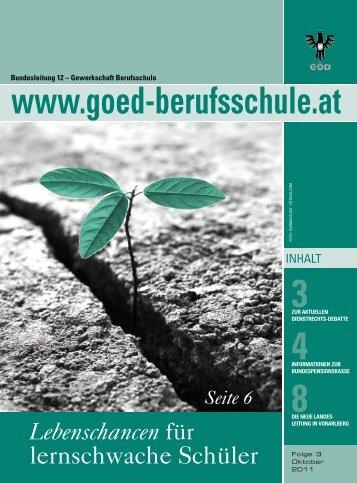 Lebenschancen - Bundessektion 12 Berufsschullehrer