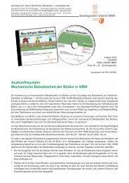 Auskunftssystem Mechanische Belastbarkeit der Böden in NRW
