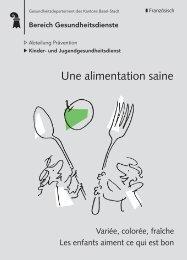 Une alimentation saine - Gesundheit.bs.ch - Basel-Stadt
