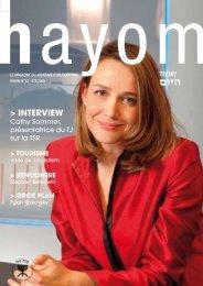 hayom32 - Communauté Israélite Libérale de Genève