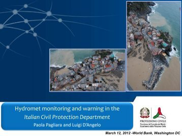 Hydromet monitoring and warning in the Italian Civil ... - GFDRR