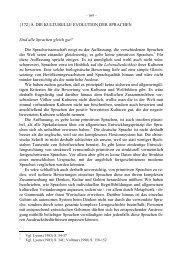 Die kulturelle Evolution der Sprachen - Deutsches Seminar