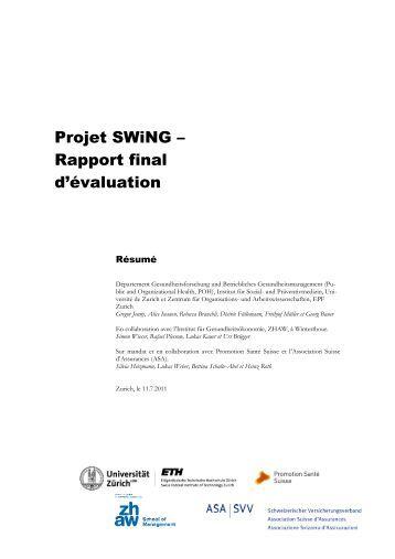 Projet SWiNG – Rapport final d'évaluation
