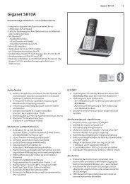 Gigaset S810A - Telefone