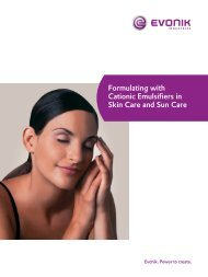 Formulating with Cationic Emulsifiers in Skin Care and Sun Care
