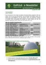 Newsletter Mai 2008 - Golfclub am Meer