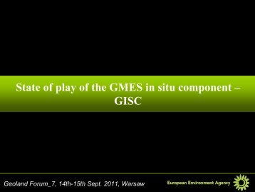 State of play of the GMES in situ component – GISC - geoland