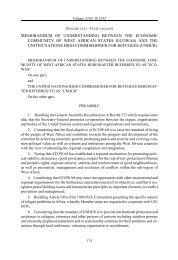 Memorandum of Understanding on refugees, UNHCR and ECOWAS.