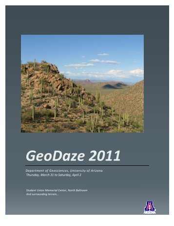 GeoDaze 2011 - Department of Geosciences - University of Arizona