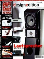 Hifi Test Design Edition - GÖBEL HIGH END