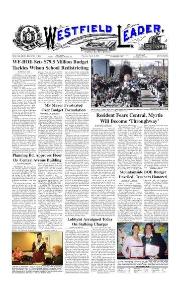 06mar16 newspaper - The Westfield Leader