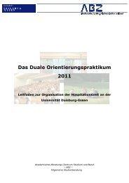 Leitfaden der Universität Duisburg-Essen