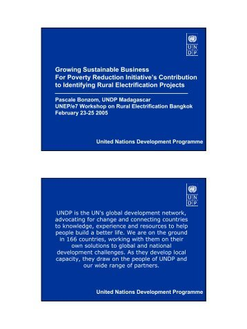Growing Sustainable Business For Poverty Reduction Initiative's ...