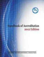 2012 Handbook of Accreditation - Georgia Northwestern Technical ...