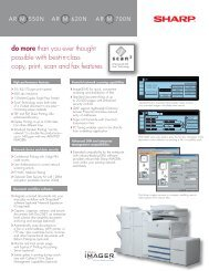 AR-M700N Spec Sheet - Copier Repair Services