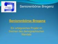 Seniorenbörse Bregenz - Gemeindeentwicklung