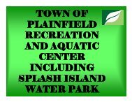 Plainfield Parks and Recreation Center - GLPTI