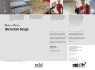 Faltblatt - Institut für Industrial Design - Hochschule Magdeburg ...