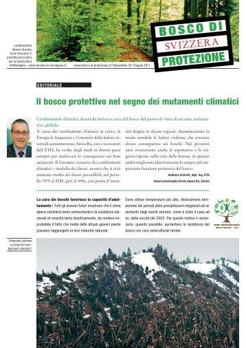 Il bosco protettivo nel segno dei mutamenti climatici