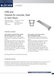 TYPE 670 Channel for concrete, tiled or resin floors