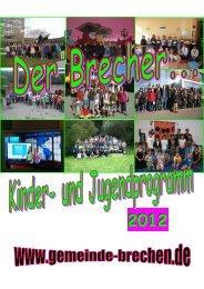 Jugendprogramm 2012 aktuell - Gemeinde Brechen